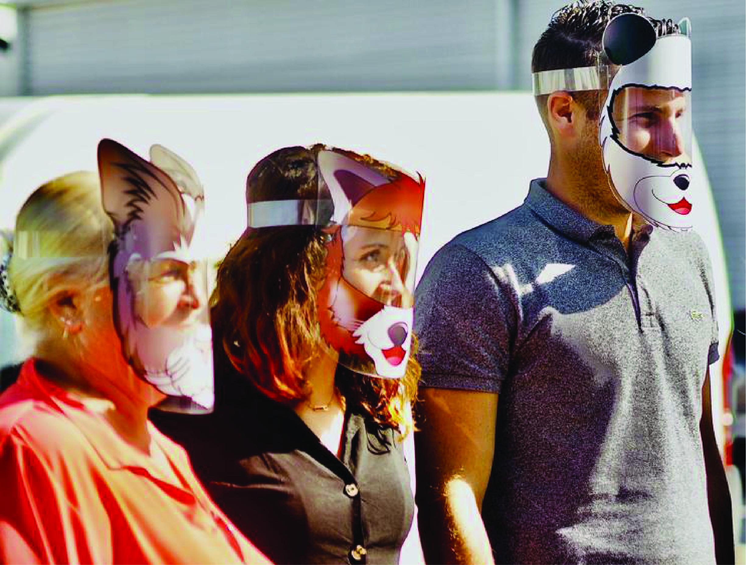 visières masquées adultes ludiques