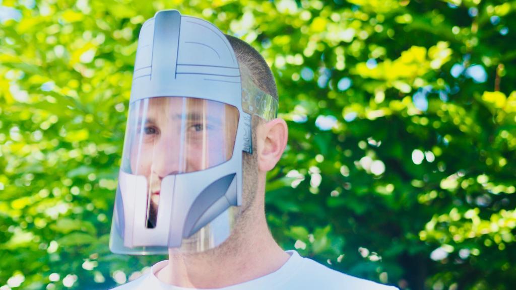 visière masquée ludique adulte